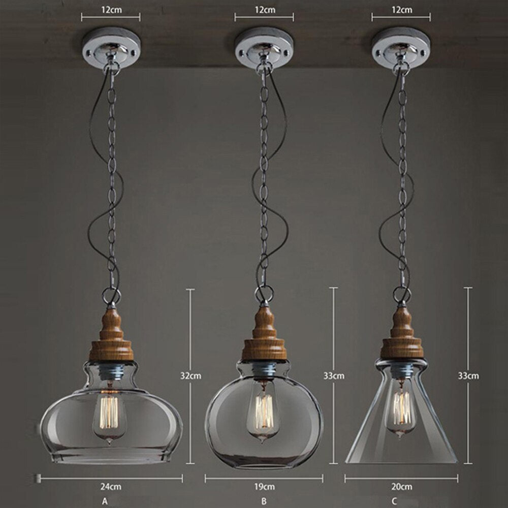 Hajimari Glass - Pendant Lights - LightStyl
