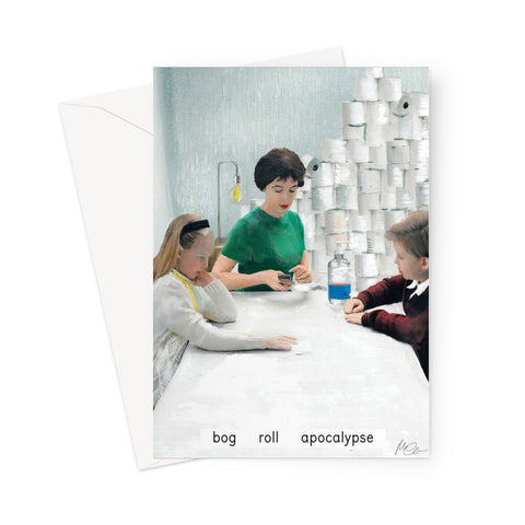 'bog roll apocalypse' Greeting Card