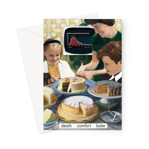 'death comfort bake' Greeting Card