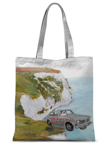 'self destruct button' Sublimation Tote Bag