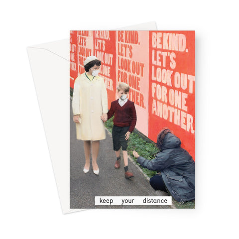 'keep your distance' Greeting Card