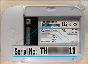 Locating the serial number