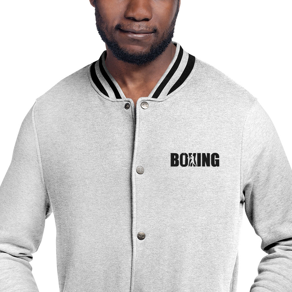 Boxing Embroidered Champion Bomber Jacket