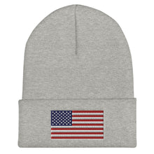 Load image into Gallery viewer, American Flag Cuffed Beanie