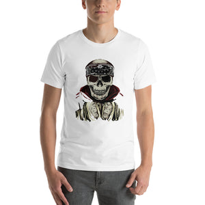 Fighter Skull Front Short-Sleeve Unisex T-Shirt