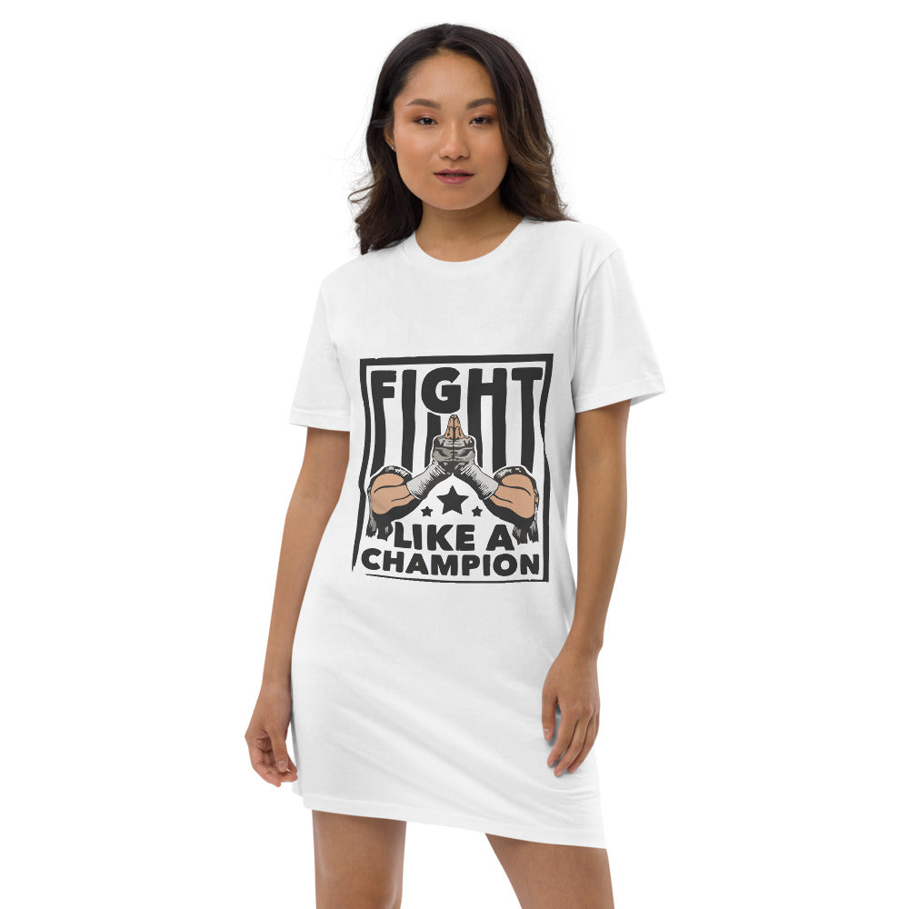 Fight Like a Champion Organic cotton t-shirt dress
