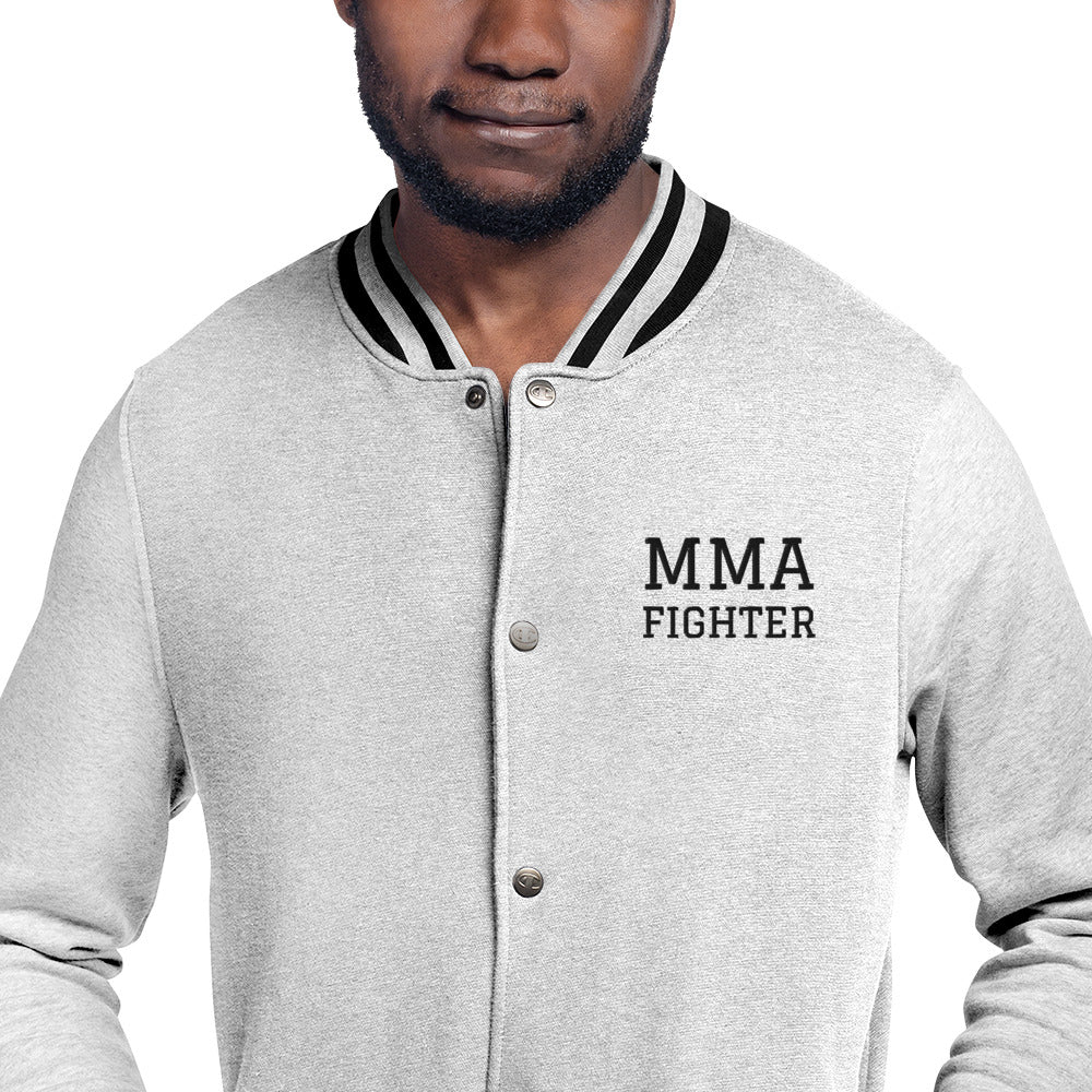 MMA Fighter Embroidered Champion Bomber Jacket