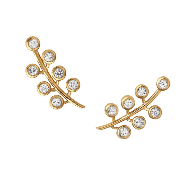 Berry Pave Ear Climber by ASHA