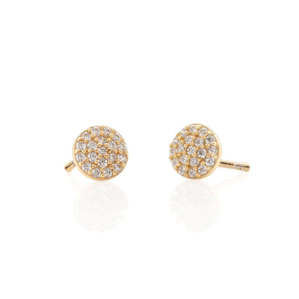 Round Pave Stud by Kris Nation