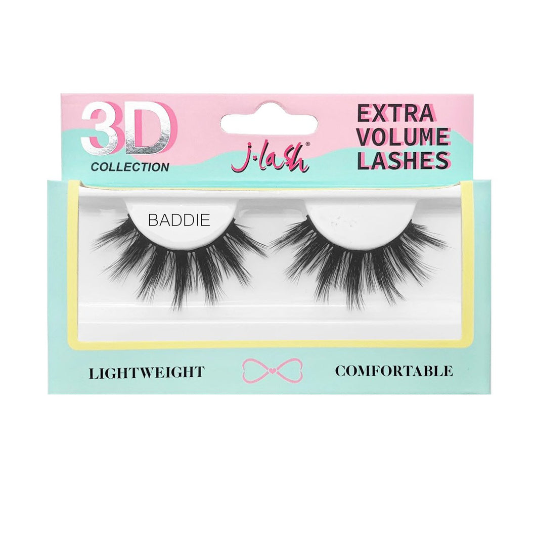 Pestaña 3D Extra Volume Lashes JLash Baddie 6 PZS Por Mayor (3D6)