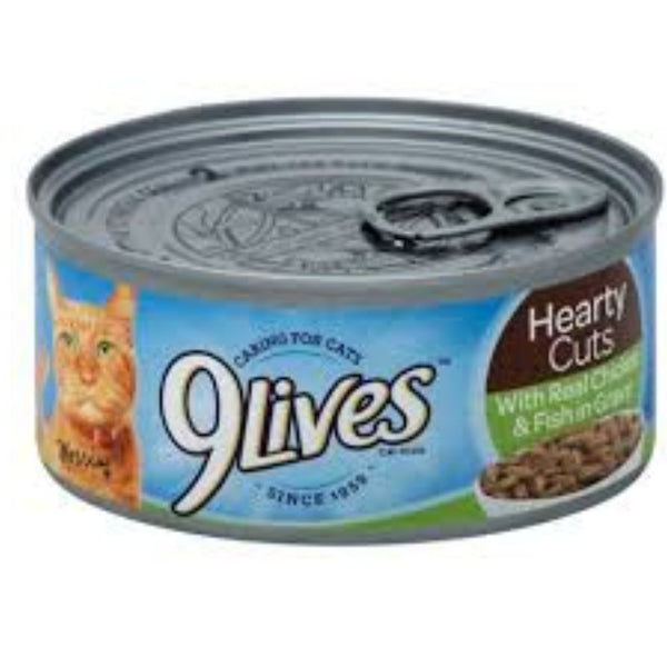 9 LIVES CAT FD 24/5.5OZ CHICKEN FISH GRAVY