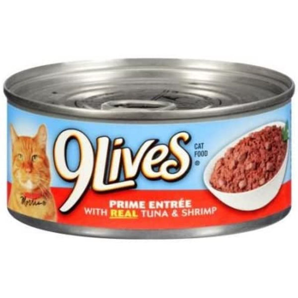 9 LIVES CAT FD 24/5.5OZ REAL TUNA CAN
