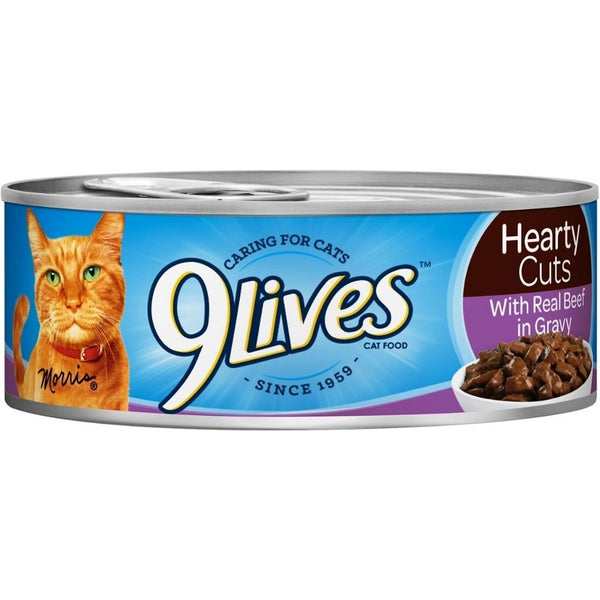 9 LIVES CAT FD 24/5.5OZ BEEF