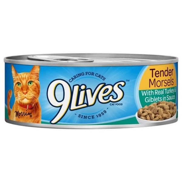 9 LIVES CAT FD 24/5.5OZ TURKEY & GIBLETS