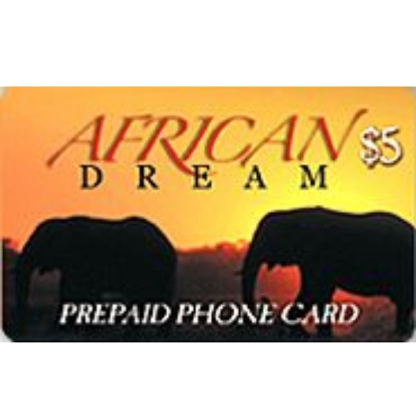 AFRICAN DREAM $5  CARD 1CT