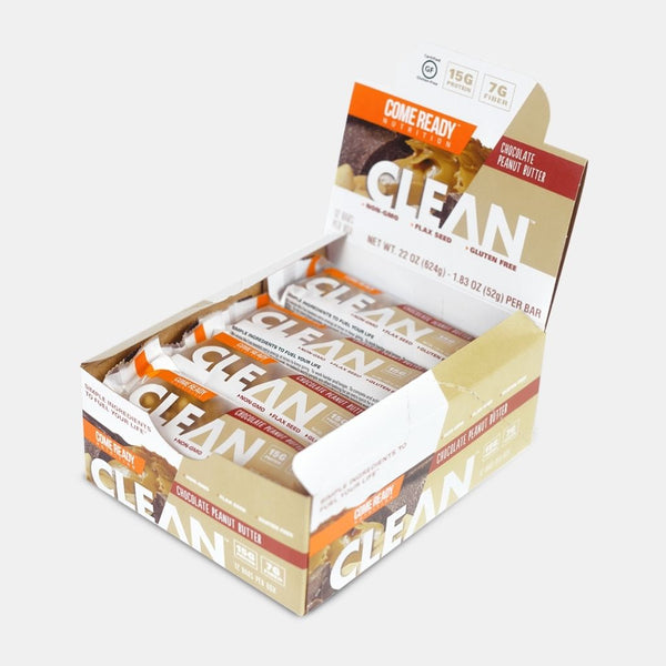 CLEAN BAR CHOC PEANUT BUTTER 12CT