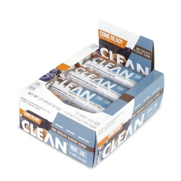 CLEAN BAR D.CHOC BLUEBERRY ALMOND 12CT