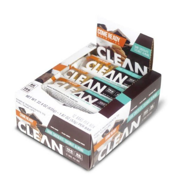 CLEAN BAR D.CHOC COCONUT ALMOND 12CT