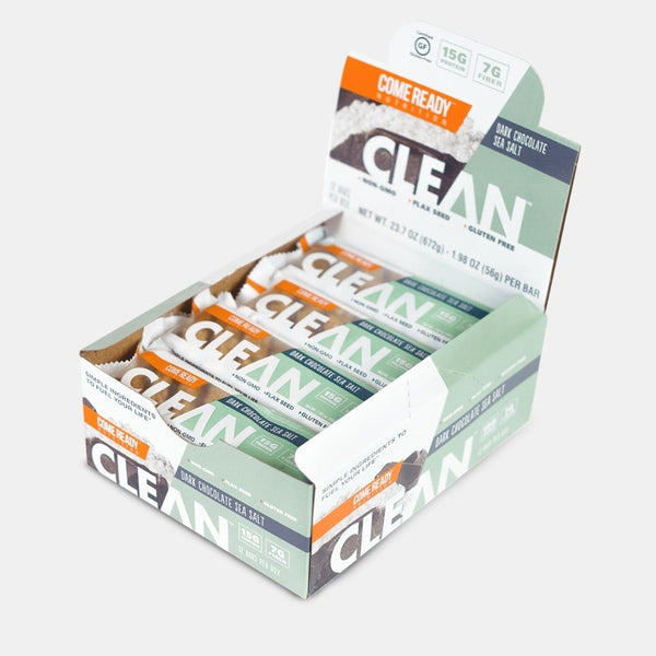CLEAN BAR D.CHOC SEA SALT 12CT