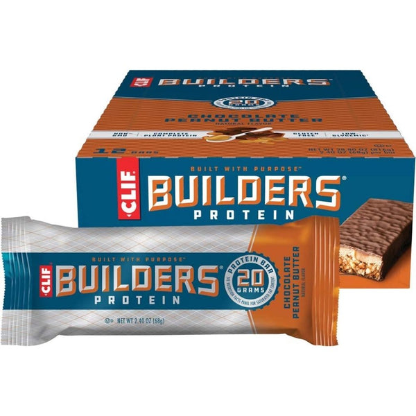 CLIF BAR BUILDER'S CHOC P.BUTTER 12/2.4OZ