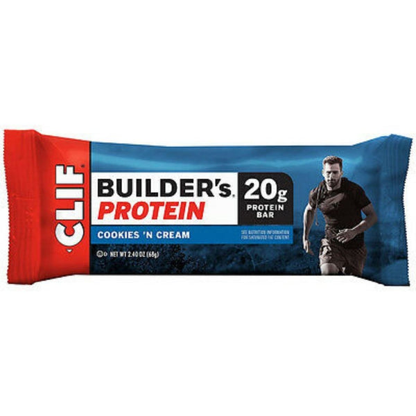 CLIF BAR BUILDER'S COOKIE&CREAM 12/2.4OZ