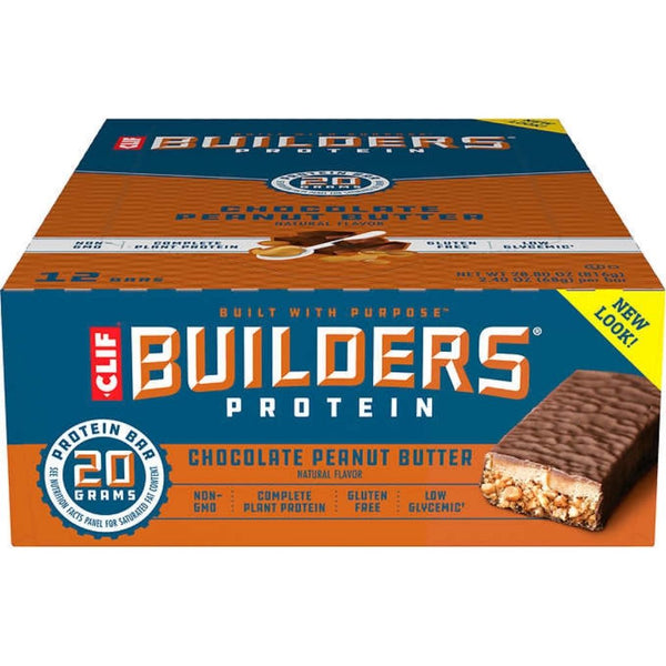 CLIF BAR BUILDER'S PEANUT BUTTER 12/2.4OZ