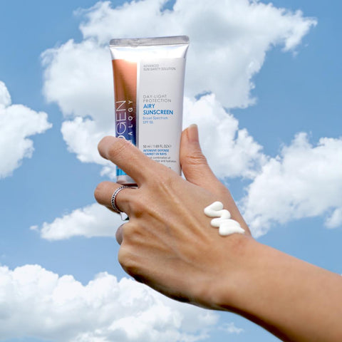 NEOGEN Day-Light Protection Sun Screen SPF 50/ PA+++. lightweight fluid-like sunscreen offers major protection with broad-spectrum. intensive protection against harmful UVA/UVB rays
