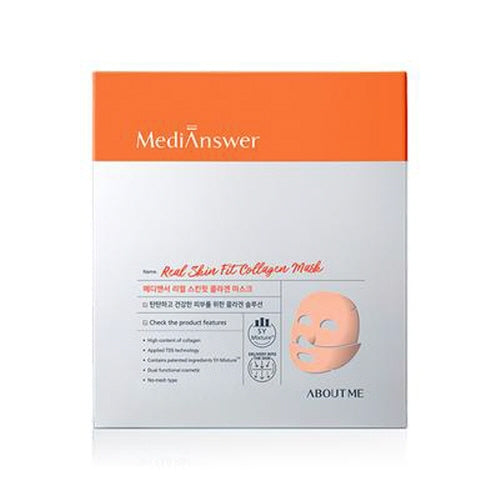 [About me] MediAnswer Real Skin Fit Collagen Mask 4 ea