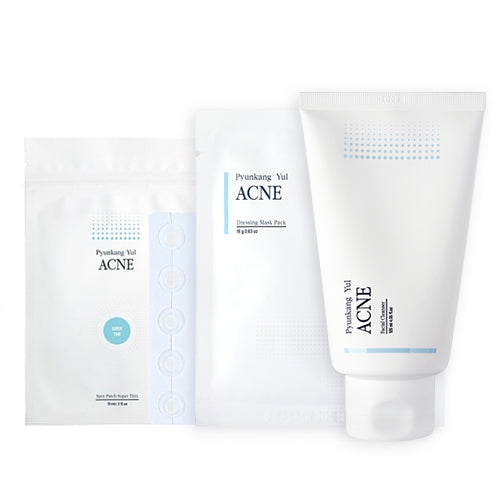 [Pyunkang yul] ACNE Set (Cleanser 120ml + Spot Patch Thin + Dressing Mask Pack 1 ea)