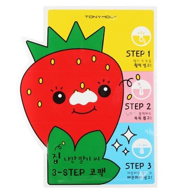 [Tonymoly] Strawberry Seed 3 Step Nose Pack 1 ea