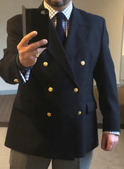 TYLER & TYLER Double Breasted Blazer with Blazer Buttons