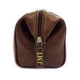 TYLER & TYLER Luxury Real Leather Washbag Personalisation
