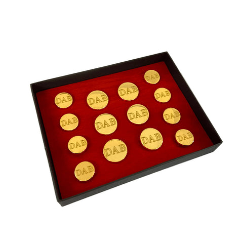 TYLER & TYLER Personalised Blazer Buttons Double Breasted Jacket Set Bright Gold Finish