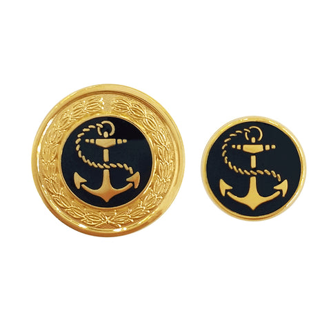 TYLER & TYLER Blazer Buttons Anchor Enamel Large and Small