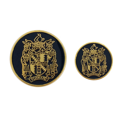 TYLER & TYLER Blazer Buttons Birmingham Coat of Arms Enamel Large and Small