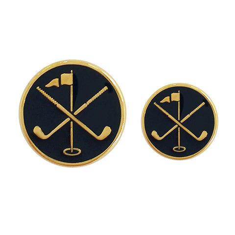 TYLER & TYLER Blazer Buttons Golf Pin Enamel Large and Small