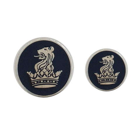 TYLER & TYLER Blazer Buttons Lion and Coronet Emamel Large and Small