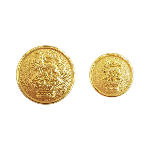 TYLER & TYLER Blazer Buttons Lion and Crown Large and Small