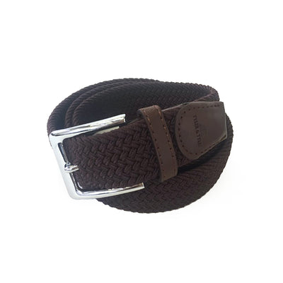 TYLER & TYLER Brown Woven Belt