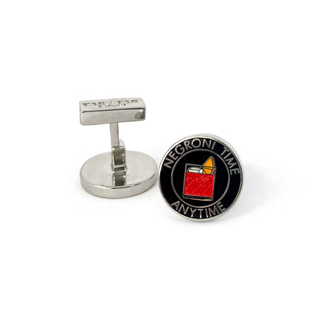 TYLER & TYLER Capsule Negroni Time Anytime Cufflinks Side Profile