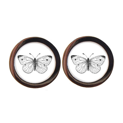 TYLER & TYLER Capsule Two-Tone Cufflinks Cabbage White Butterly Front