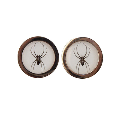 TYLER & TYLER Capsule Two-Tone Cufflinks Spider Front