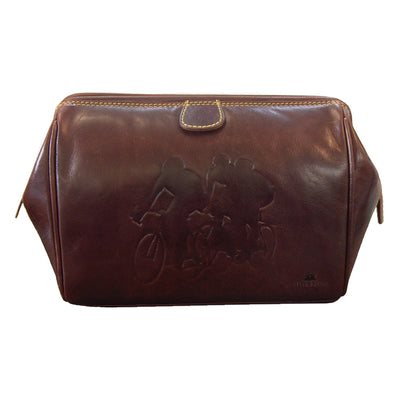 TYLER & TYLER Luxury Real Leather Washbag Bicycle Racers