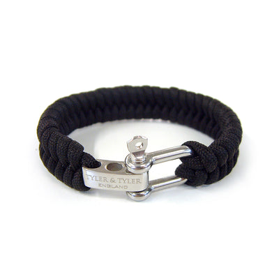 TYLER & TYLER Men's Bracelet Black