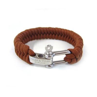 TYLER & TYLER Men's Bracelet Brown