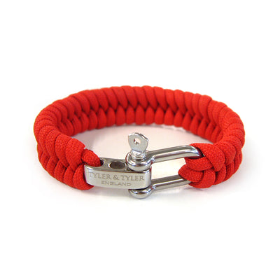 TYLER & TYLER Men's Bracelet Red