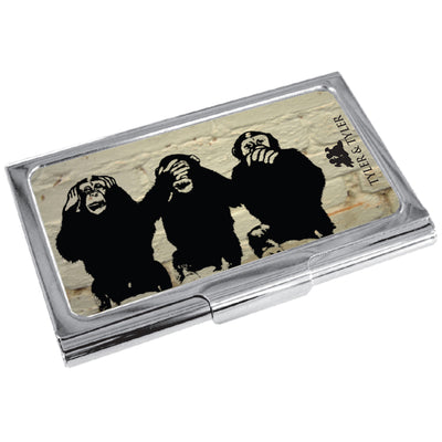 TYLER & TYLER Metal Business Card Holder 3 Wise Monkeys