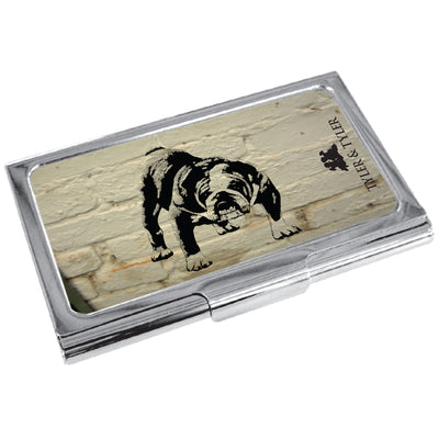TYLER & TYLER Metal Business Card Holder Barry Bulldog