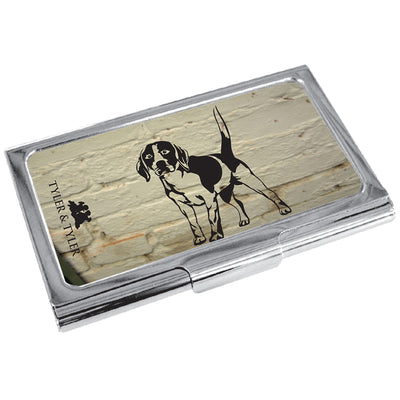 TYLER & TYLER Metal Business Card Holder Beagle