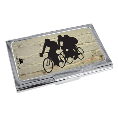 TYLER & TYLER Metal Business Card Holder Bicycle Racers